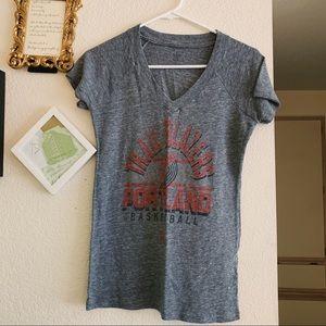 Adidas NBA Portland Trail Blazers V-Neck T-Shirt